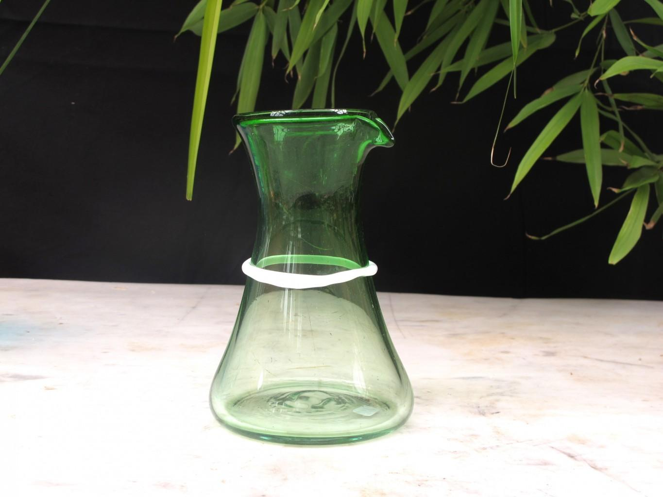 Green and White Beaker