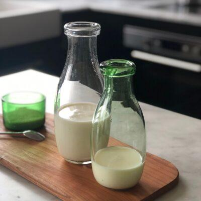 la-soufflerie-milk-bottle-transparent-green-hand-blown-recycled-glass