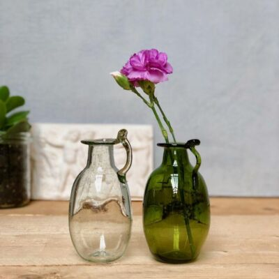 la-soufflerie-amour-avec-anse-carafe-vase-bud-vase-bottle-transparent-olive-hand-blown-recycled-glass