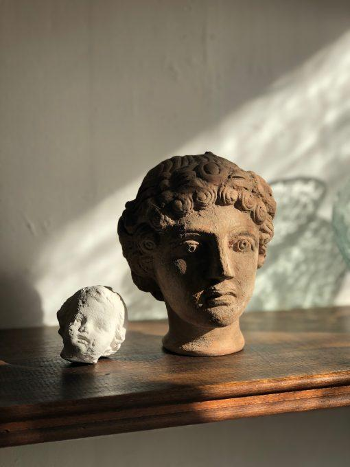 tête-rodi-femme-female-head-sculpture-in-terracotta