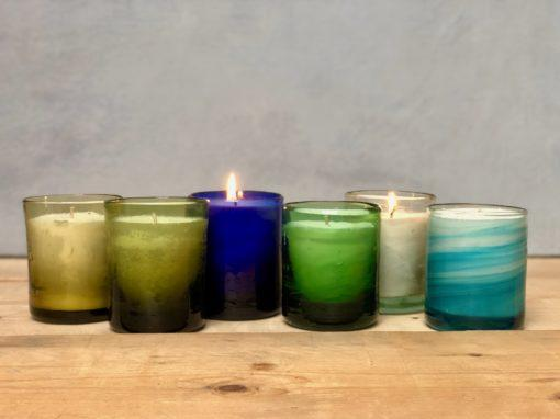 la-soufflerie-murano-moyen-bougie-hand-poured-candle-yellow-olive-blue-green-transparent-turquoise