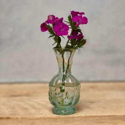 thibaut head shaped bud vase in transparent glass