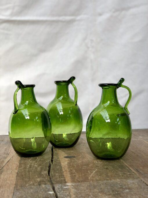 la-soufflerie-amour-avec-anse-olive-small-carafe-vase-hand-blown-recycled-glass