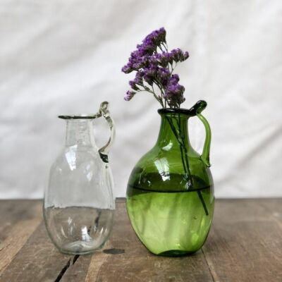 la-soufflerie-amour-avec-anse-transparent-olive-small-carafe-vase-hand-blown-recycled-glass