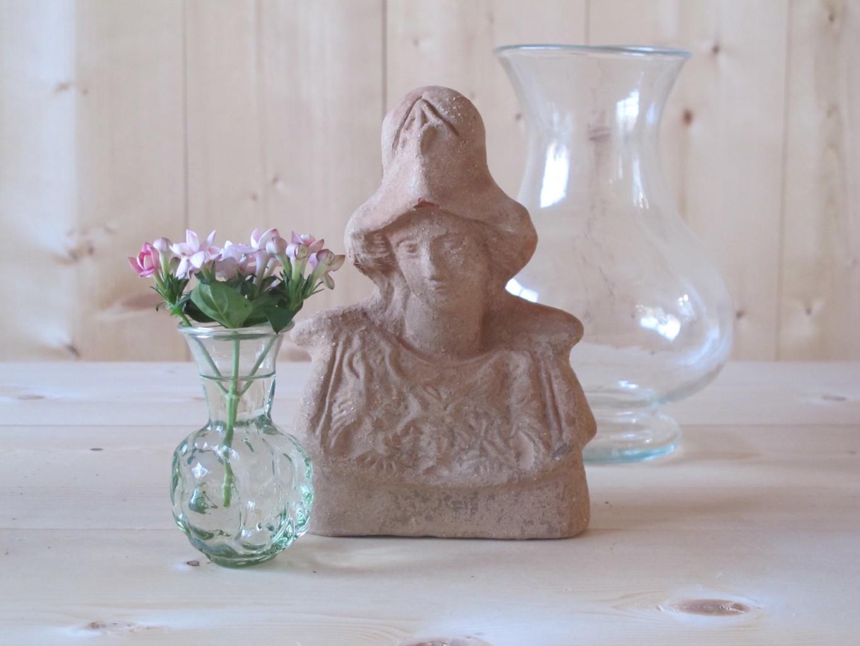 L to R: Chiara vase, Jess with a hat terracotta, Verscio