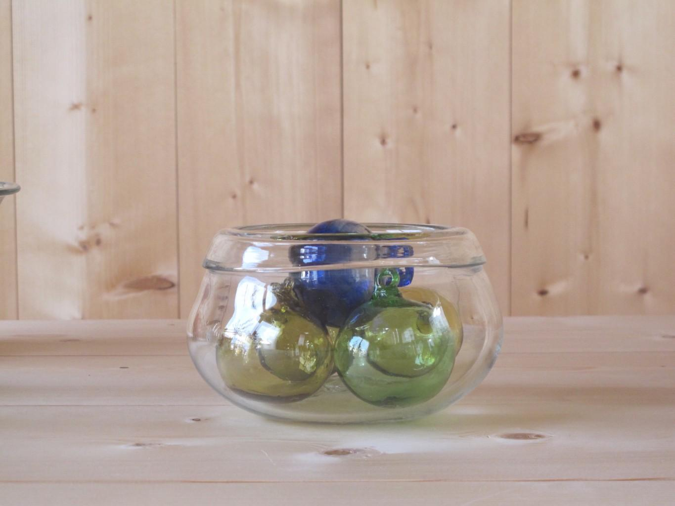 Salad Bowl Small, Boules Blue, Olive, Green