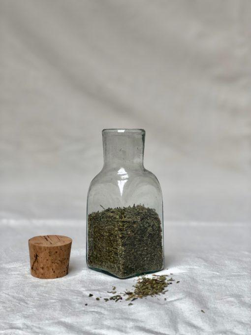la-soufflerie-bagno-epices-square-jar-transparent-hand-blown-recycled-glass