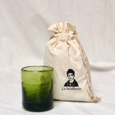 la-soufflerie-murano-moyen-olive-drinking-glass-hand-blown-recycled-glass-cotton-gift-bag