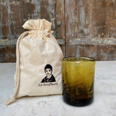 la-soufflerie-murano-moyen-yellow-drinking-glass-hand-blown-recycled-glass-cotton-gift-bag