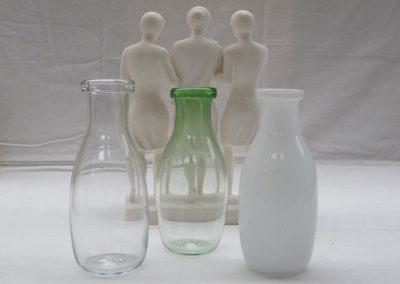 MILK BOTTLES 19CM HIGH