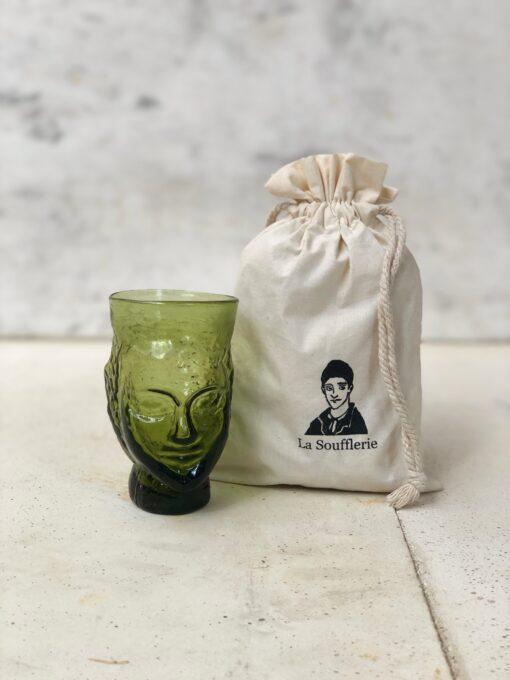 la-soufflerie-verre-tete-head-shaped-drinking-glass-olive-recycled-glass