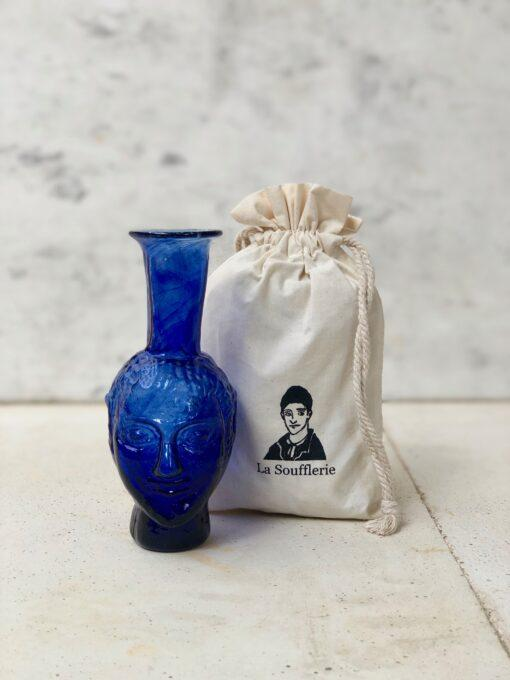 la-soufflerie-vase-tete-blue-bud-vase-face-vase-hand-blown-recycled-glass