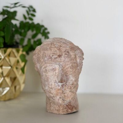 tête-rodi-homme-male-head-terracotta-sculpture