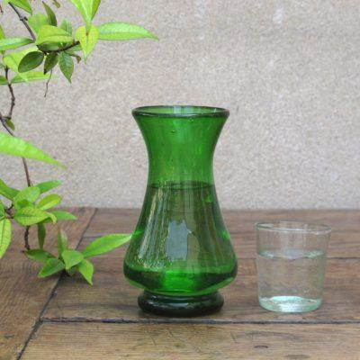 la-soufflerie-polonaise-green-carafe-vase-handmade-hand-blown-recycled-glass