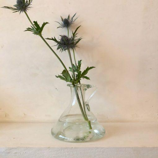 la-soufflerie-trianon-carafe-with-handle-flat-base-transparent-hand-blown-recycled-glass