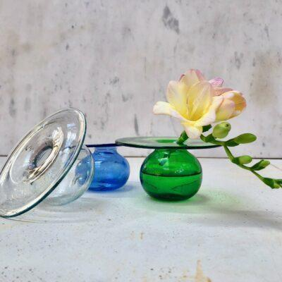 cd-bud-vase-in-transparent-light-blue-or-green-hand-blown-recycled-glass