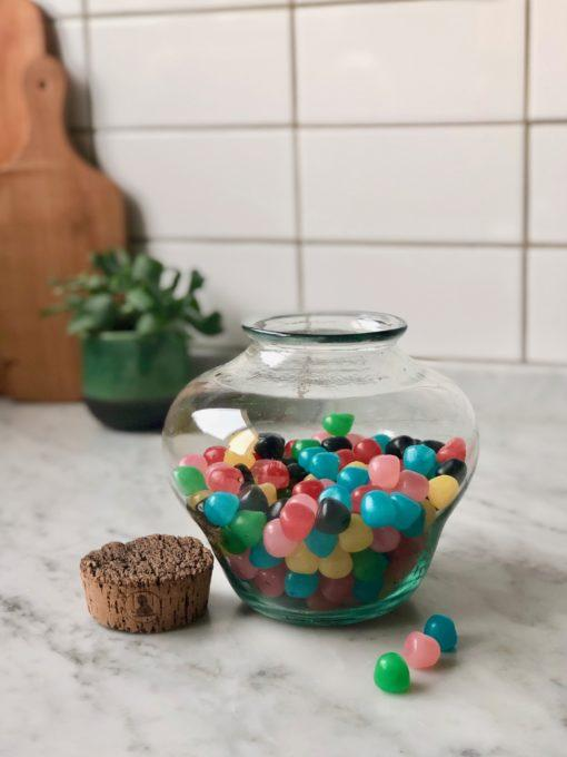 la-soufflerie-bonbonniere-jar-container-with-cork-transparent-hand-blown-recycled-glass