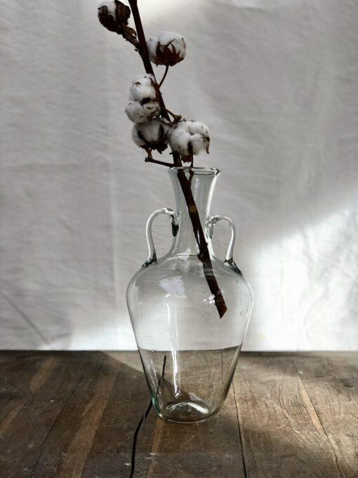 la-soufflerie-amphora-vase-with-handles-transparent-recycled-glass