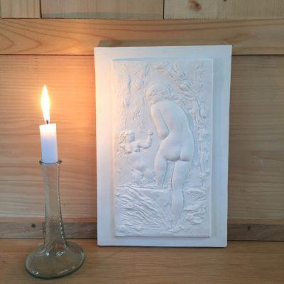la-soufflerie-the-bather-plaster-of-paris-bas-relief-sculpture-handmade