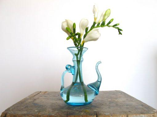 la-soufflerie-napoli-carafe-vase-turquoise-hand-blown-recycled-glass