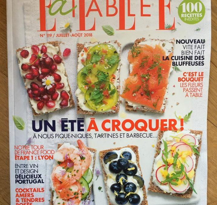 Elle à Table – August 2018