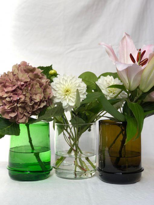 la-soufflerie-vase-boudin-bas-vase-band-detail-at-bottom-green-transparent-dark-brown-hand-blown-recycled-glass