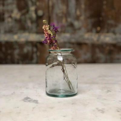 la-soufflerie-pharmacy-petit-jar-vase-flared-lip-transparent-hand-blown-recycled-glass