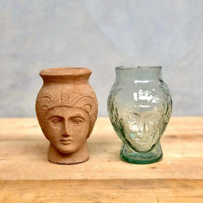 deborah-head-shaped-vases-in-terracotta-and-transparent-recycled-glass.