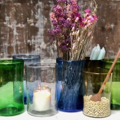 vase-droit-green-light-blue-transparent-dark-blue-dark-brown-yellow-olive-handblown-recycled-glass