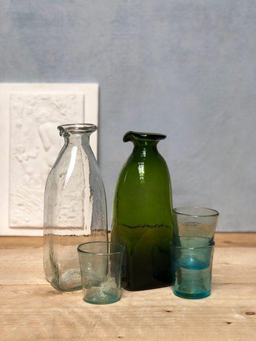 la-soufflerie-frigo-avec-bec-carafe-olive-transparent-hand-blown-recycled-glass-handmade