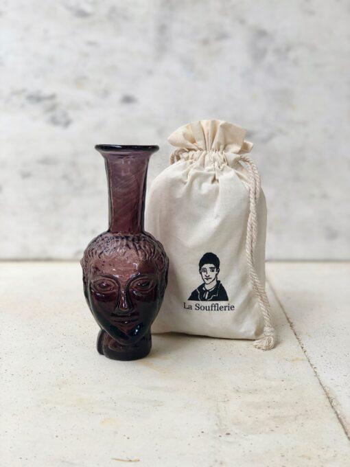 la-soufflerie-vase-tete-purple-bud-vase-face-vase-head-vase-hand-blown-recycled-glass