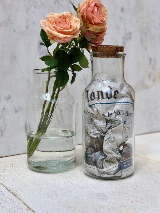 la-soufflerie-albarelle-grand-vases-with-flowers-and-cork-top-in-transparent-handblown-recycled-glass