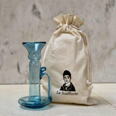la-soufflerie-porta-candele-with-handle-turquoise-glass-candlestick-holder