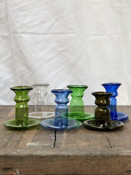 la-soufflerie-porta-candele-piccolo-candlestick-holder-bud-vase-olive-transparent-light-blue-green-dark-brown-dark-blue-hand-blown-recycled-glass