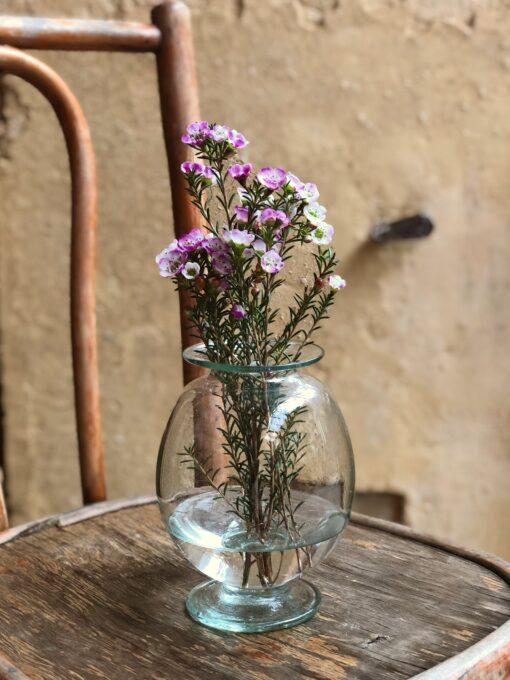 vaso vase in transparent glass