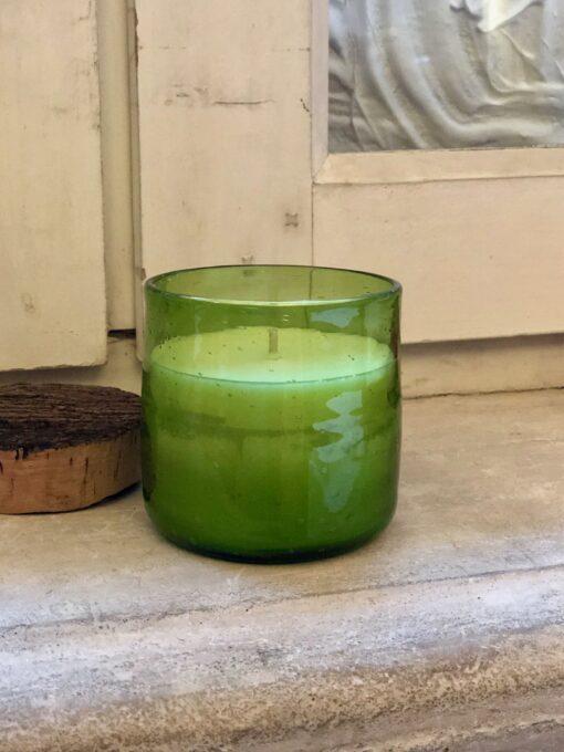 rodi glass small bougie candle olive