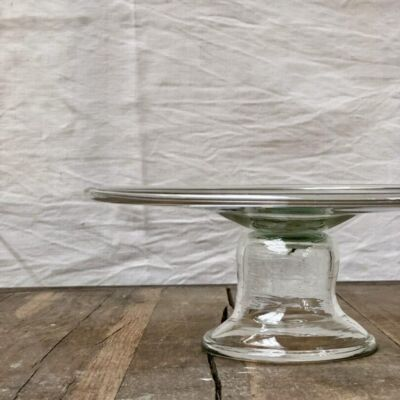 la-soufflerie-opera-cake-plate-platter-transparent-hand-blown-recycled-glass