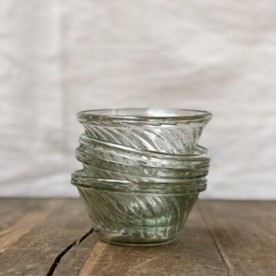 la-soufflerie-venezia-cicchetti-small-appetizer-bowl-beveled-design-transparent-hand-blown-recycled-glass-handmade