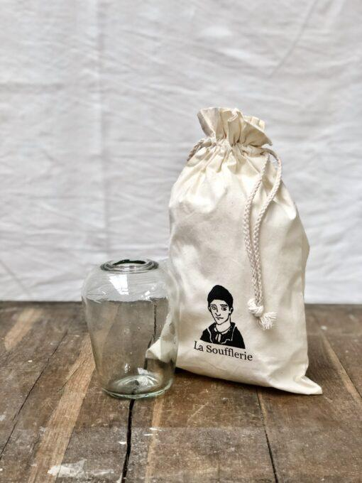 la-soufflerie-yoshi-small-vase-transparent-hand-blown-recycled-glass-complimentary-gift-bag-