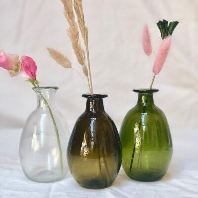 la-soufflerie-amour-sans-anse-vase-bud-vase-transparent-dark-brown-olive-hand-blown-recycled-glass