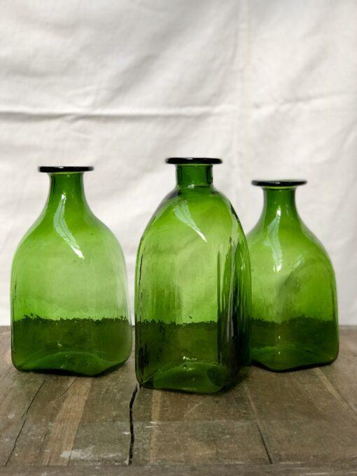 la-soufflerie-bouteille-carre-grand-olive-square-bottle-carafe-jug-hand-blown-recycled-glass
