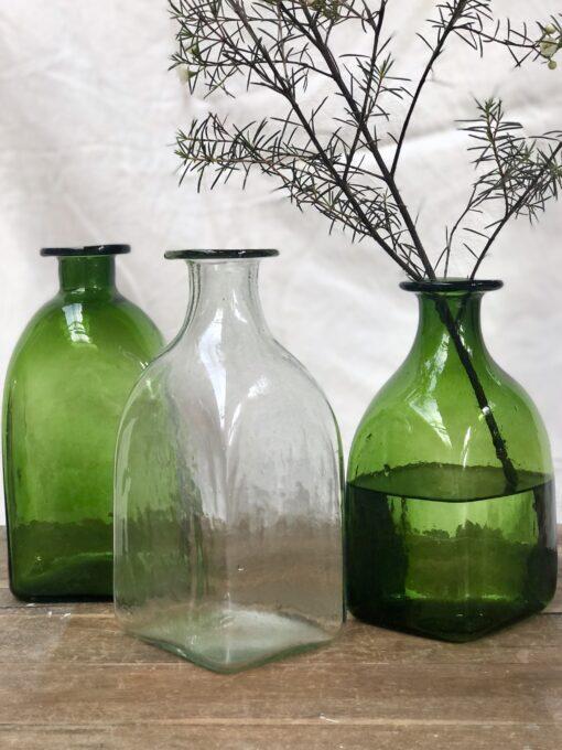 la-soufflerie-bouteille-carre-grand-olive-transparent-square-bottle-jug-carafe-vase-hand-blown-recycled-glass