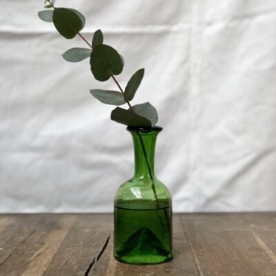 la-soufflerie-jermane-olive-vase-carafe-bud-vase-hand-made-hand-blown-recycled-glass