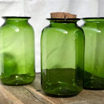 la-soufflerie-pharmacy-grand-olive-jar-container-vase-with-cork-hand-blown-recycled-glass