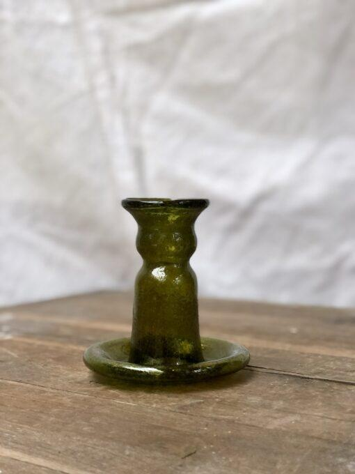la-soufflerie-porta-candele-piccolo-color-mix-green-brown-candle-stick-holder-hand-blown-recycled-glass