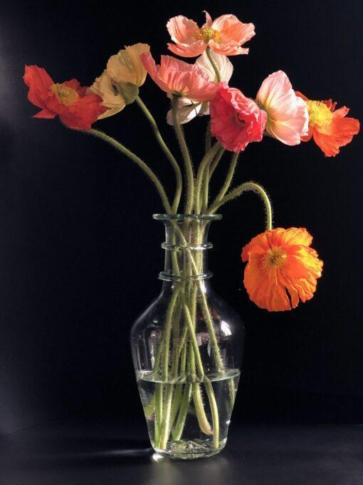la-soufflerie-bourbe-petite-transparent-vase-with-colorful-poppies