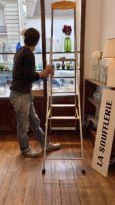 la soufflerie pop up shop set up