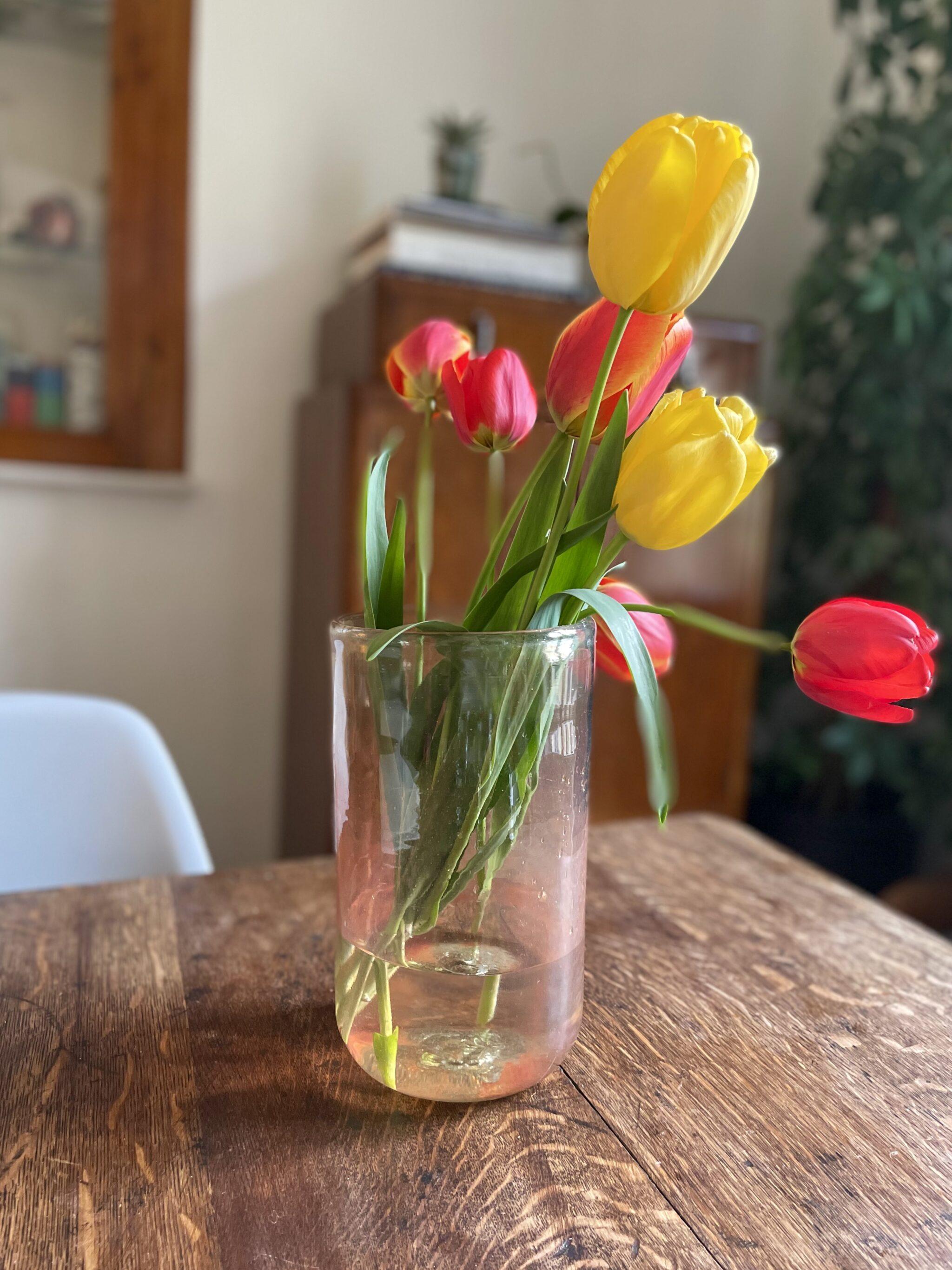 la-soufflerie-vase-droit-color-mix-orange-transparent