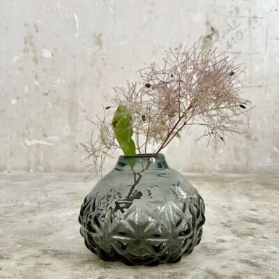 la-soufflerie-boule-a-facette-beveled-glass-vase-smoky