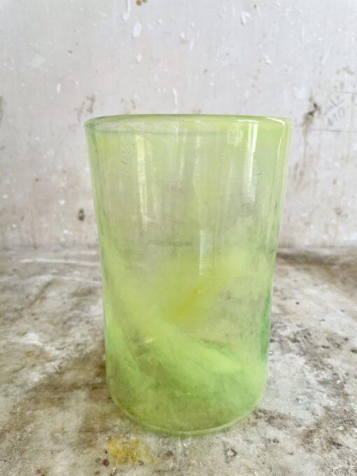 la-soufflerie-vase-droit-color-mix-yellow-transparent
